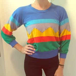 VINTAGE colorful sweater